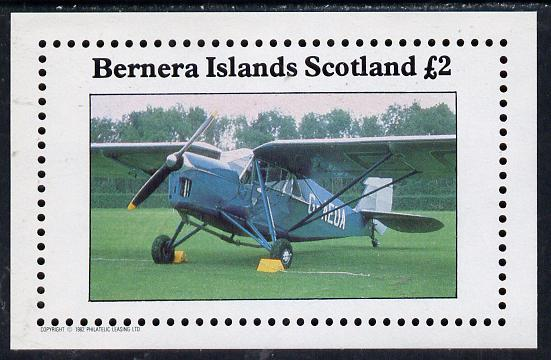 Bernera 1982 Aircraft #09 imperf deluxe sheet (�2 value) unmounted mint