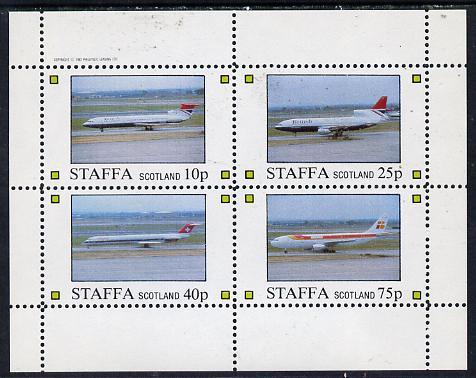 Staffa 1982 Airliners #2 perf  set of 4 values (10p to 75p) unmounted mint