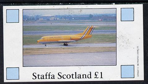 Staffa 1982 Airliners #2 imperf souvenir sheet (�1 value) unmounted mint