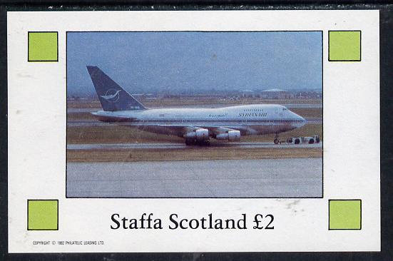 Staffa 1982 Airliners #2 imperf deluxe sheet (�2 value) unmounted mint