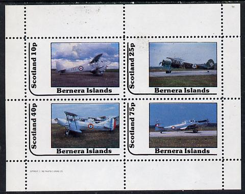 Bernera 1982 Bi-planes #1 perf  set of 4 values (10p to 75p) unmounted mint