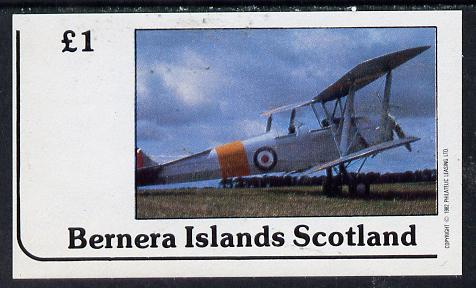 Bernera 1982 Bi-planes #1 imperf souvenir sheet (�1 value) unmounted mint