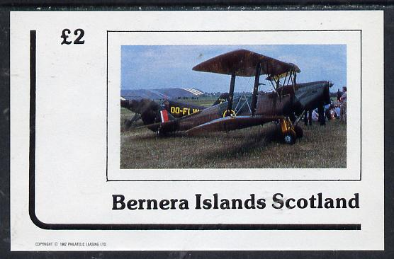 Bernera 1982 Bi-planes #1 imperf deluxe sheet (�2 value) unmounted mint