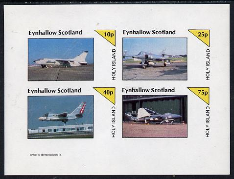 Eynhallow 1982 Military Jets #1 imperf  set of 4 values (10p to 75p) unmounted mint