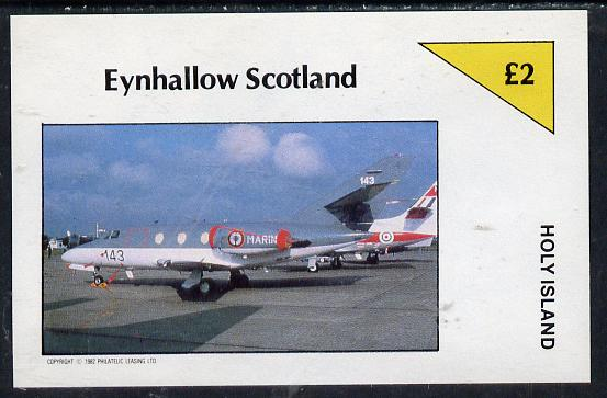 Eynhallow 1982 Military Jets #1 imperf deluxe sheet (�2 value) unmounted mint
