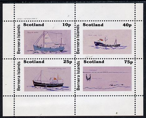 Bernera 1982 Ships #2 perf  set of 4 values (10p to 75p) unmounted mint