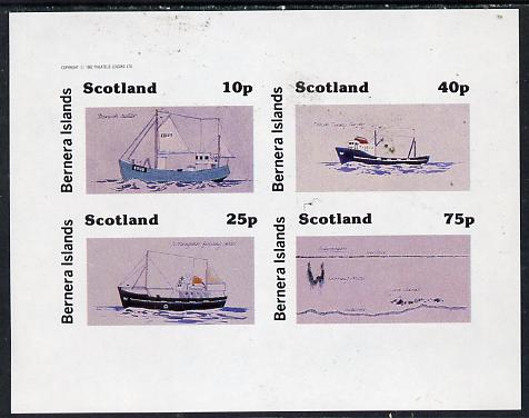 Bernera 1982 Ships #2 imperf  set of 4 values (10p to 75p) unmounted mint