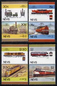 Nevis 1986 Locomotives #5 (Leaders of the World) set of 8 unmounted mint SG 352-59