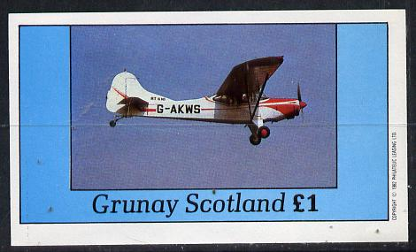 Grunay 1982 Aircraft #2 imperf souvenir sheet (�1 value) unmounted mint