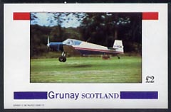 Grunay 1982 Aircraft #3 imperf deluxe sheet (�2 value) unmounted mint