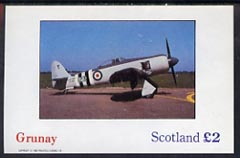 Grunay 1982 Light Aircraft imperf deluxe sheet (�2 value) unmounted mint