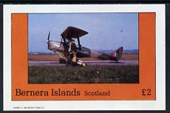 Bernera 1982 Aircraft #11 imperf deluxe sheet (�2 value) unmounted mint
