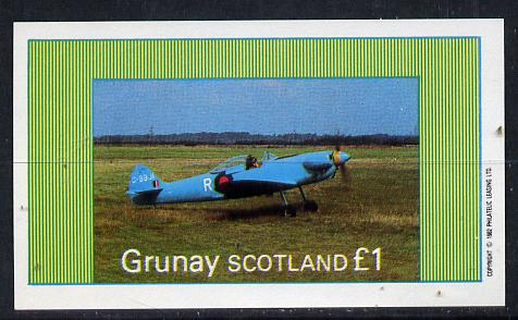 Grunay 1982 Aircraft #4 imperf souvenir sheet (�1 value) unmounted mint
