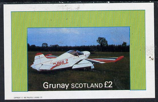 Grunay 1982 Aircraft #4 imperf deluxe sheet (�2 value) unmounted mint