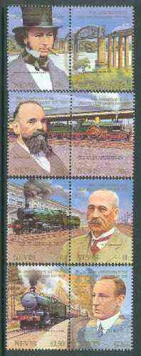 Nevis 1985 Great Western Railway Anniversary set of 8 unmounted mint SG 318-25