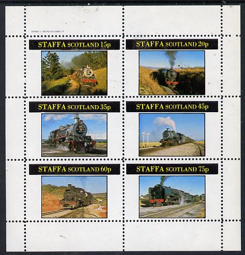 Staffa 1982 Steam Locos #09 perf set of 6 values (15p to 75p) unmounted mint