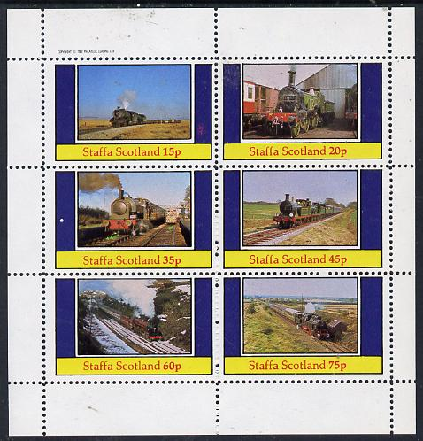 Staffa 1982 Steam Locos #10 perf set of 6 values (15p to 75p) unmounted mint