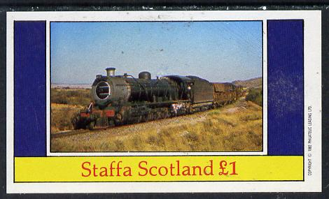 Staffa 1982 Steam Locos #10 imperf souvenir sheet (�1 value) unmounted mint