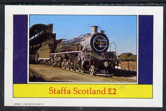 Staffa 1982 Steam Locos #10 imperf deluxe sheet (�2 value) unmounted mint
