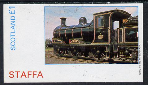Staffa 1982 Steam Locos #11 imperf souvenir sheet (�1 value)  unmounted mint