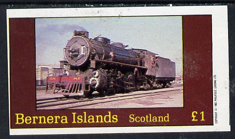 Bernera 1982 Steam Locos #10 imperf souvenir sheet (�1 value) unmounted mint