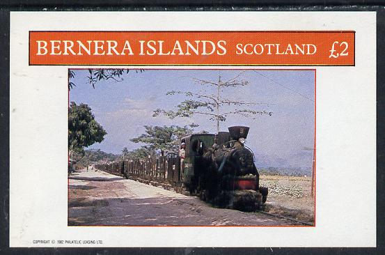 Bernera 1982 Steam Locos #11 (Java Sugar Cane Loco) imperf deluxe sheet (�2 value) unmounted mint