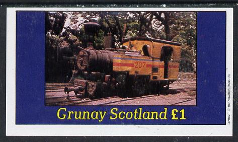 Grunay 1982 Steam Locos #02 (Java Sugar Cane Loco) imperf souvenir sheet (�1 value) unmounted mint