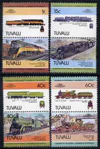 Tuvalu 1984 Locomotives #1 (Leaders of the World) set of 8 (SG 241-48) unmounted mint