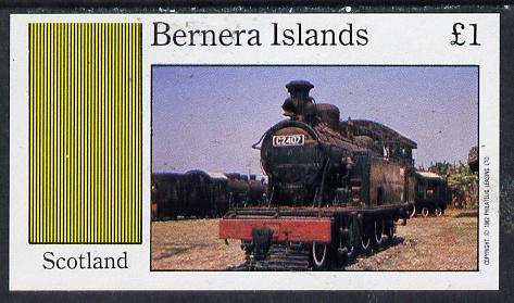 Bernera 1982 Steam Locos #12 imperf souvenir sheet (�1 value) unmounted mint