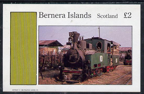 Bernera 1982 Steam Locos #12 (Java Sugar Cane Locos) imperf deluxe sheet (�2 value) unmounted mint