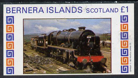 Bernera 1982 Steam Locos #13 imperf souvenir sheet (�1 value) unmounted mint