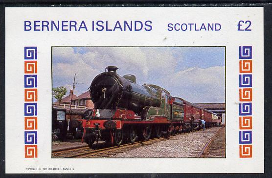 Bernera 1982 Steam Locos #13 imperf deluxe sheet (�2 value) unmounted mint