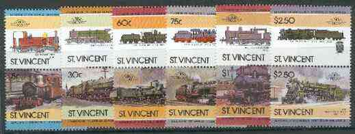 St Vincent 1985 Locomotives #5 (Leaders of the World) set of 12 unmounted mint SG 893-904