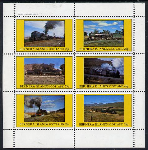 Bernera 1982 Steam Locos #14 (South African) perf set of 6 values (15p to 75p) unmounted mint