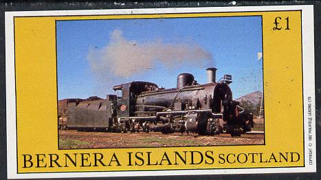 Bernera 1982 Steam Locos #14 (A African Narrow Gauge)imperf souvenir sheet (�1 value) unmounted mint