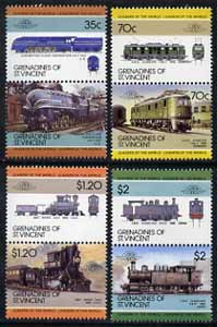 St Vincent - Grenadines 1985 Locomotives #5 (Leaders of the World) set of 8 unmounted mint SG 412-19