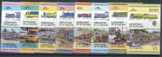 St Vincent - Grenadines 1984 Locomotives #1 (Leaders of the World) set of 16 unmounted mint SG 271-86