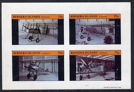 Bernera 1981 Museum Aircraft imperf  set of 4 values (10p to 75p) unmounted mint