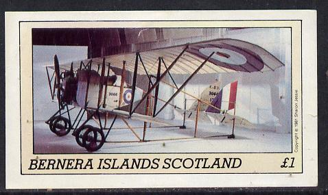 Bernera 1981 Museum Aircraft imperf souvenir sheet (�1 value) unmounted mint