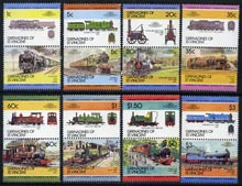 St Vincent - Grenadines 1984 Locomotives #2 (Leaders of the World) set of 16 unmounted mint SG 311-26