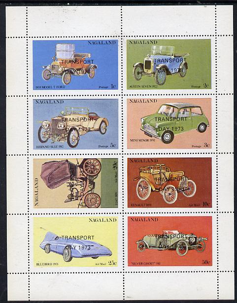 Nagaland 1972 Cars #2 (opt'd Transport Day 1973) perf  set of 8 values (1c to 50c) unmounted mint