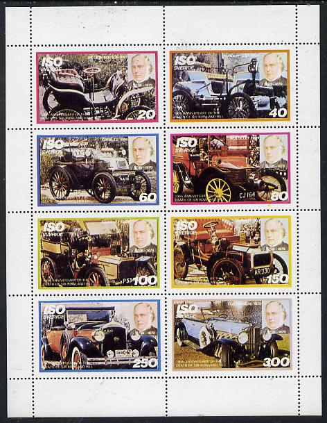 Iso - Sweden 1979 Rowland Hill (Cars) perf  set of 8 values (20 to 300) unmounted mint