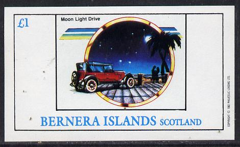 Bernera 1982 Cars imperf souvenir sheet (�1 value) unmounted mint