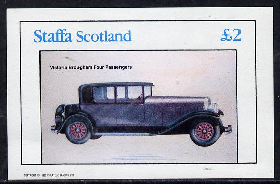 Staffa 1982 Cars #2 imperf deluxe sheet (�2 value) unmounted mint