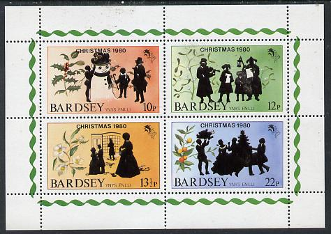 Bardsey (British Local) 1980 Christmas set of 4 unmounted mint