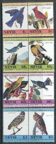 Nevis 1985 John Audubon Birds #1 (Leaders of the World) set of 8 unmounted mint SG 269-76