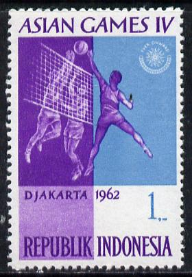Indonesia 1962 Volleyball 1r (from Asian Games set) unmounted mint SG 913