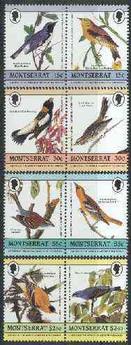 Montserrat 1985 John Audubon Birds (Leaders of the World) set of 8 unmounted mint, SG 657-64