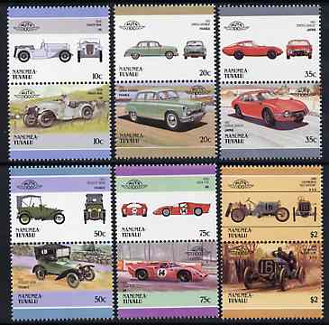 Tuvalu - Nanumea 1986 Cars #3 (Leaders of the World) set of 12 unmounted mint