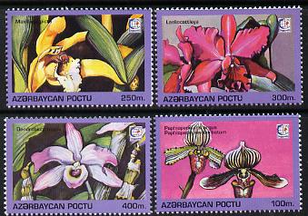 Azerbaijan 1995 Orchids set of 4 unmounted mint*